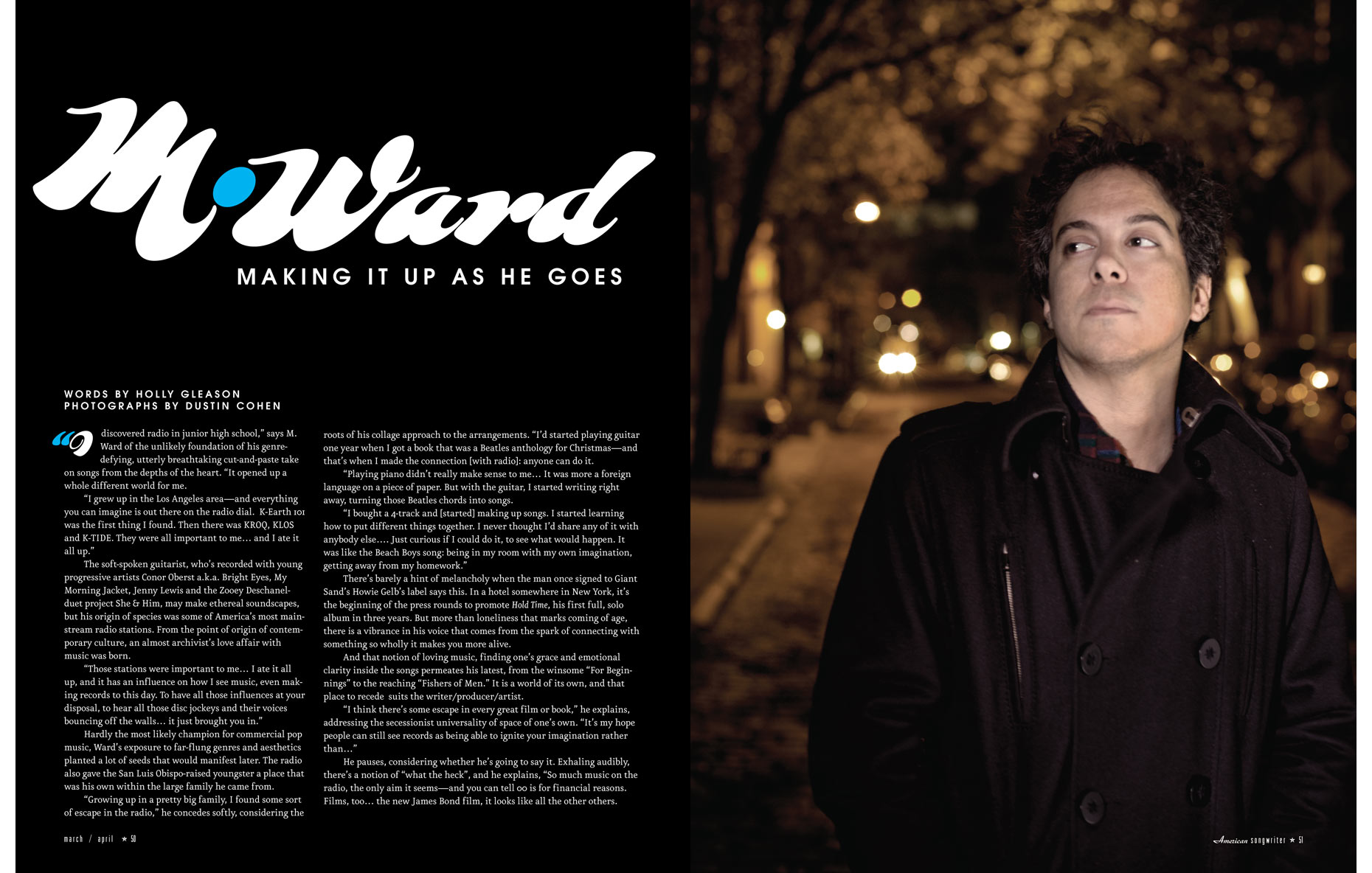 M. Ward / American Songwriter Magazine