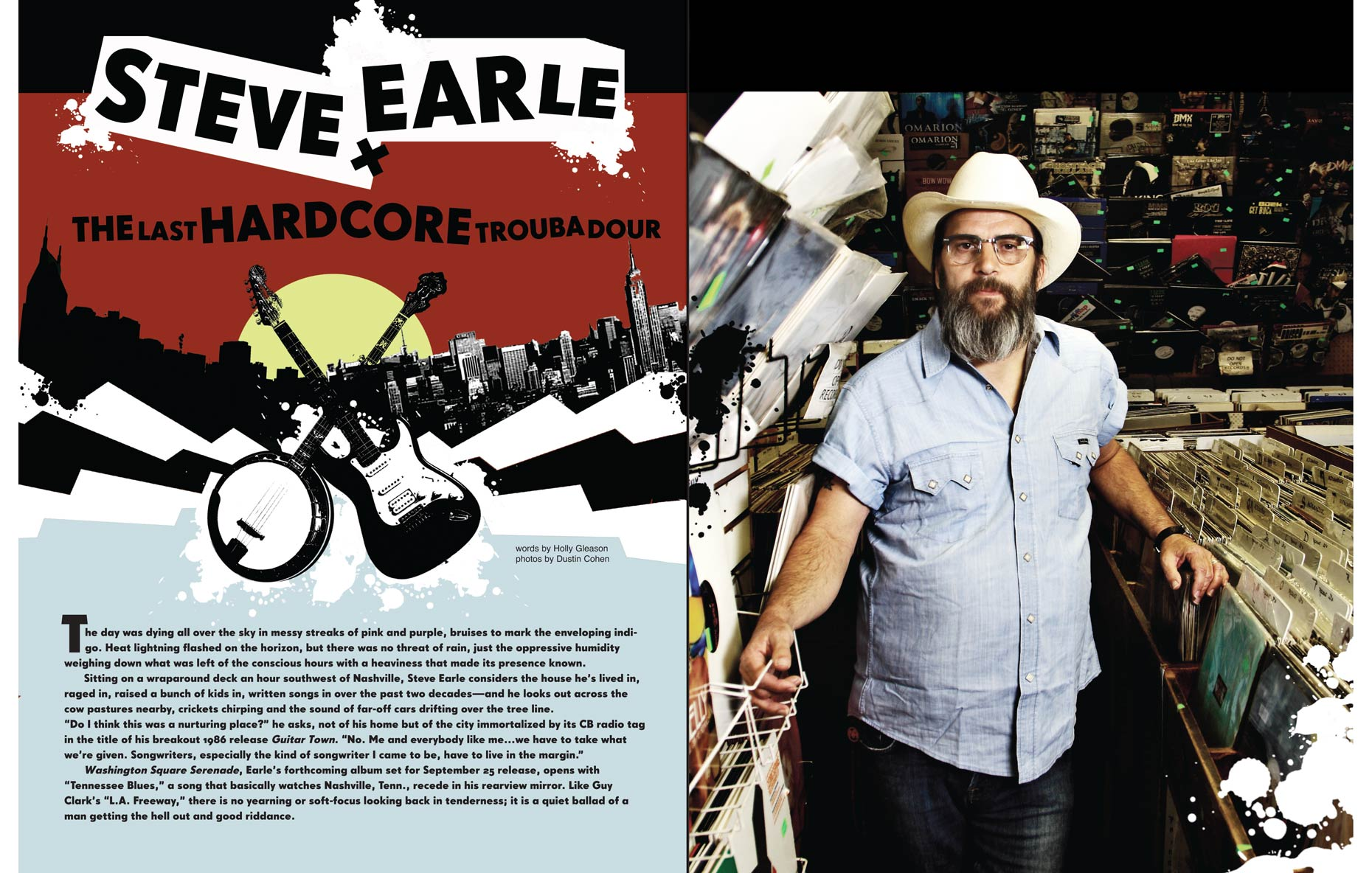 Steve Earle/ American Songwriter Magazine