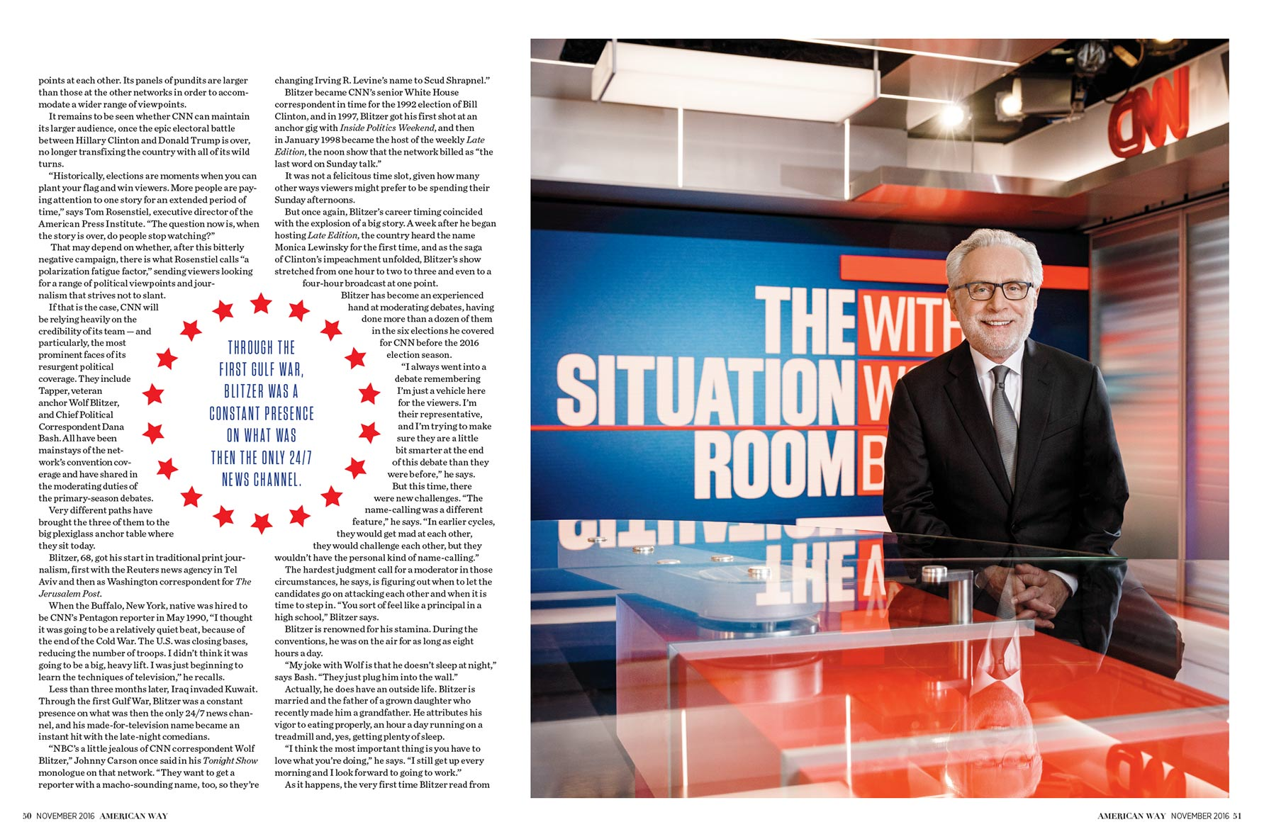 American Way / Wolf Blitzer