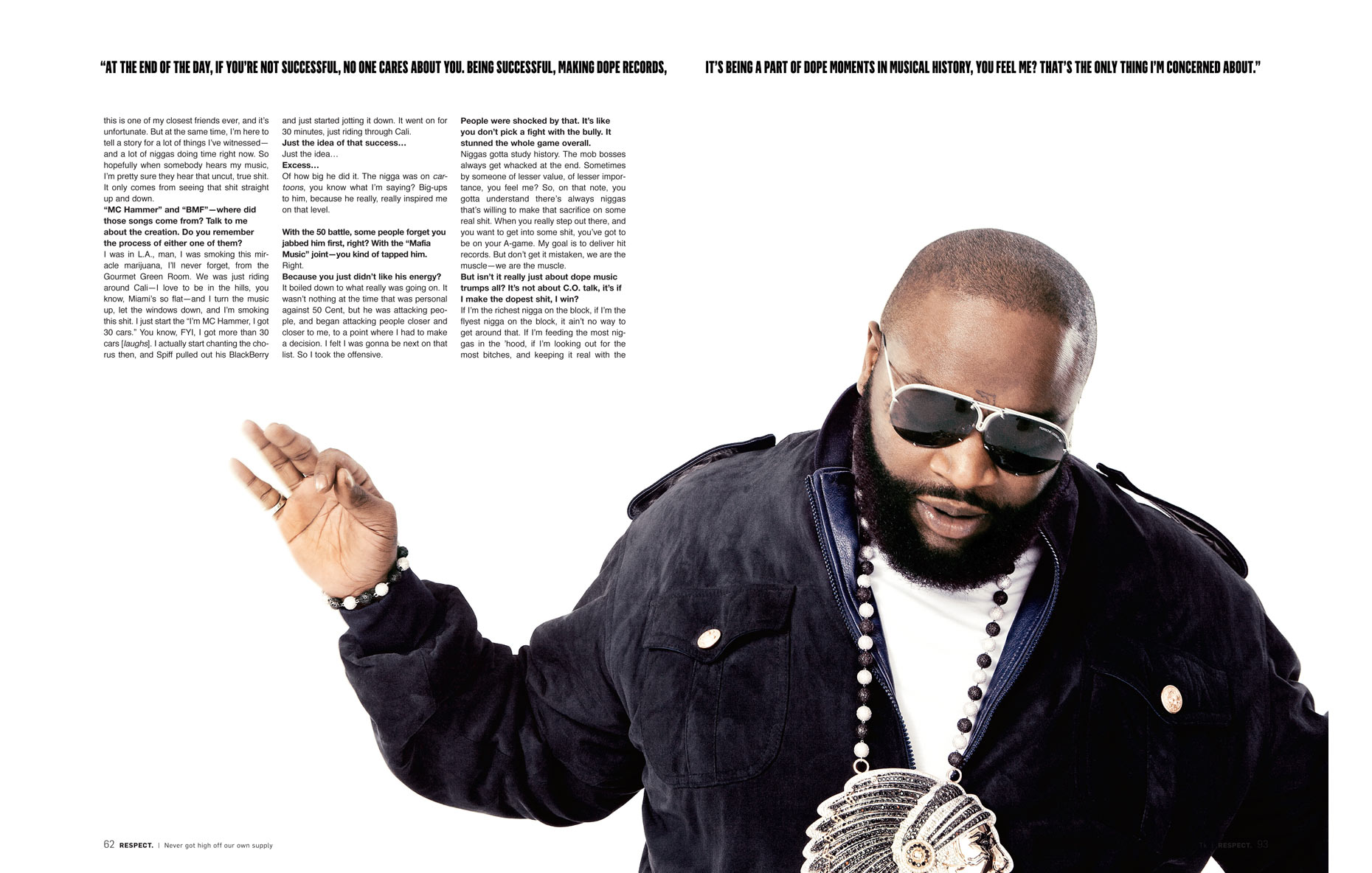 Rick Ross / Respect Magazine