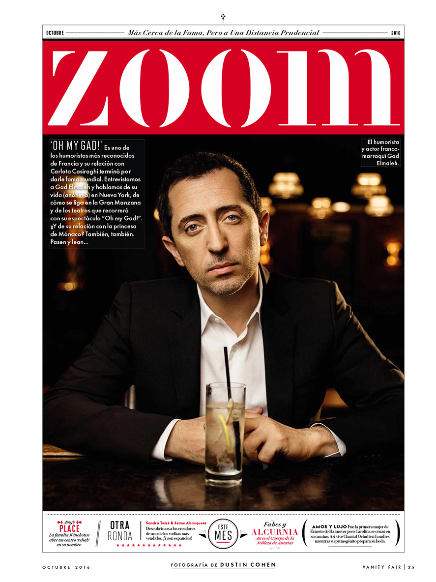 Gad Elmaleh / Vanity Fair Spain